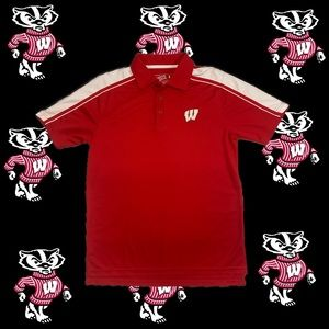 18)Campus heritage Wisconsin mens polo